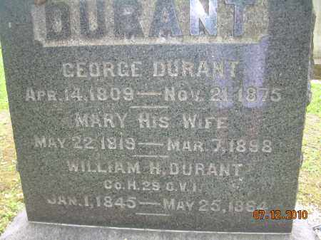 DURANT, MARY - Summit County, Ohio | MARY DURANT - Ohio Gravestone Photos
