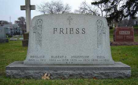 FRIESS, EMIL - Summit County, Ohio | EMIL FRIESS - Ohio Gravestone Photos