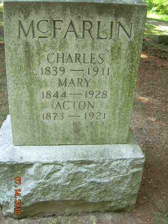 MCFARLIN, MARY - Summit County, Ohio | MARY MCFARLIN - Ohio Gravestone Photos