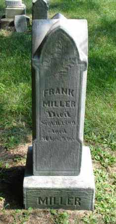 MILLER, FRANK - Summit County, Ohio | FRANK MILLER - Ohio Gravestone Photos