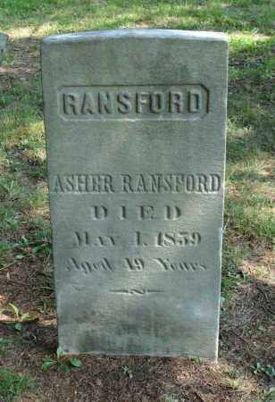 RANSFORD, ASHER - Summit County, Ohio | ASHER RANSFORD - Ohio Gravestone Photos