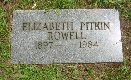 ROWELL, ELIZABETH - Summit County, Ohio | ELIZABETH ROWELL - Ohio Gravestone Photos