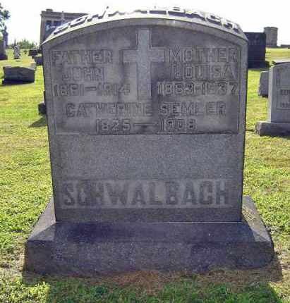 LOUISA, SCHWALBACH - Summit County, Ohio | SCHWALBACH LOUISA - Ohio Gravestone Photos