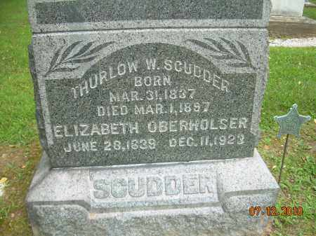 OBERHOLSER SCUDDER, ELIZABETH - Summit County, Ohio | ELIZABETH OBERHOLSER SCUDDER - Ohio Gravestone Photos