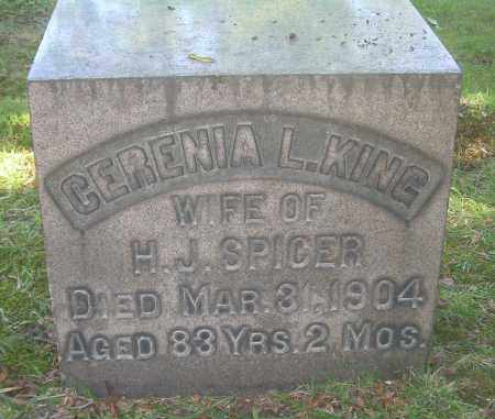 KING SPICER, CERENIA L - Summit County, Ohio | CERENIA L KING SPICER - Ohio Gravestone Photos