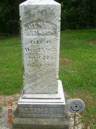 STIMSON, HENRY - Summit County, Ohio | HENRY STIMSON - Ohio Gravestone Photos