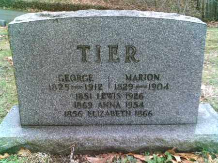 TIER, ELIZABETH - Summit County, Ohio | ELIZABETH TIER - Ohio Gravestone Photos