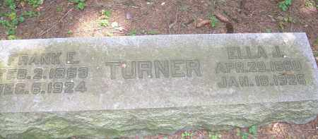 TURNER, FRANK E - Summit County, Ohio | FRANK E TURNER - Ohio Gravestone Photos