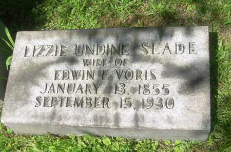 SLADE VORIS, LIZZIE UNDINE - Summit County, Ohio | LIZZIE UNDINE SLADE VORIS - Ohio Gravestone Photos