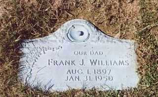 WILLIAMS, FRANK J - Summit County, Ohio | FRANK J WILLIAMS - Ohio Gravestone Photos