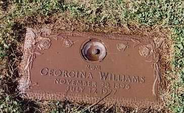 BISHOP WILLIAMS, GEORGINA M - Summit County, Ohio | GEORGINA M BISHOP WILLIAMS - Ohio Gravestone Photos