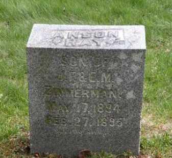 ZIMMERMAN, ANSON RAY - Summit County, Ohio   ANSON RAY ZIMMERMAN - Ohio Gravestone Photos