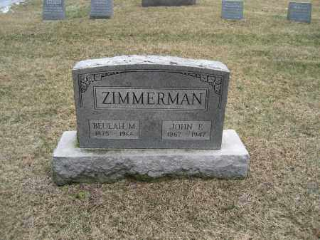 ZIMMERMAN, BEULAH M - Summit County, Ohio | BEULAH M ZIMMERMAN - Ohio Gravestone Photos
