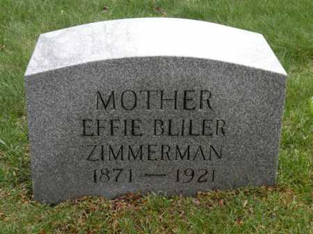 BLILER ZIMMERMAN, EFFIE - Summit County, Ohio | EFFIE BLILER ZIMMERMAN - Ohio Gravestone Photos