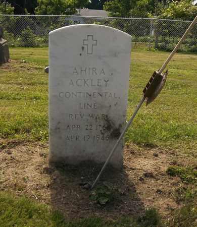 ACKLEY, AHIRA - Trumbull County, Ohio | AHIRA ACKLEY - Ohio Gravestone Photos