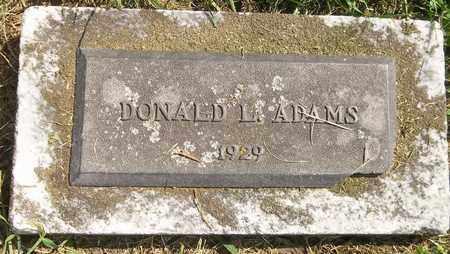 ADAMS, DONALD L. - Trumbull County, Ohio   DONALD L. ADAMS - Ohio Gravestone Photos