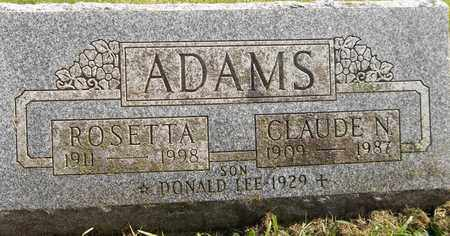 ADAMS, CLAUDE N. - Trumbull County, Ohio | CLAUDE N. ADAMS - Ohio Gravestone Photos