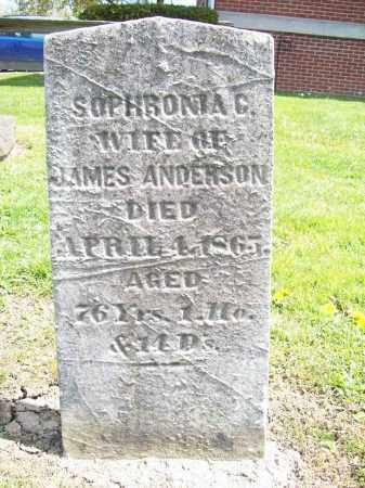 ANDERSON, SOPHRONIA C. - Trumbull County, Ohio | SOPHRONIA C. ANDERSON - Ohio Gravestone Photos