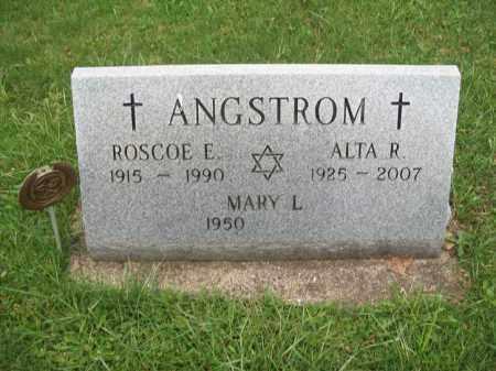 ANGSTROM, ROSCOE E. - Trumbull County, Ohio | ROSCOE E. ANGSTROM - Ohio Gravestone Photos