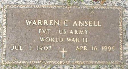ANSELL, WARREN C. - Trumbull County, Ohio   WARREN C. ANSELL - Ohio Gravestone Photos