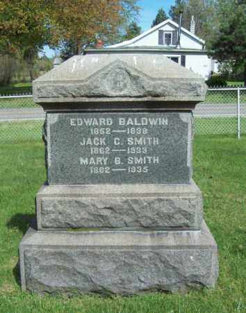 BALDWIN, EDWARD - Trumbull County, Ohio | EDWARD BALDWIN - Ohio Gravestone Photos