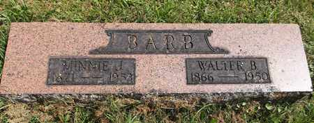 BARB, WALTER B. - Trumbull County, Ohio | WALTER B. BARB - Ohio Gravestone Photos