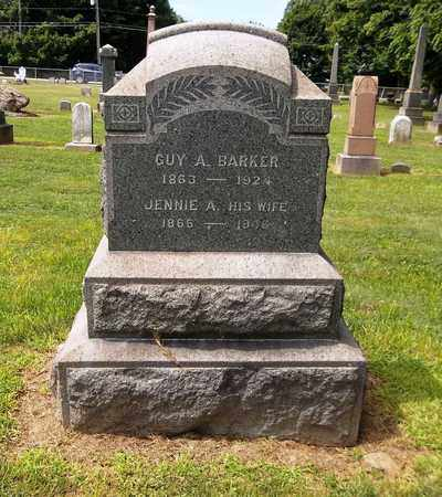 BARKER, JENNIE A. - Trumbull County, Ohio | JENNIE A. BARKER - Ohio Gravestone Photos