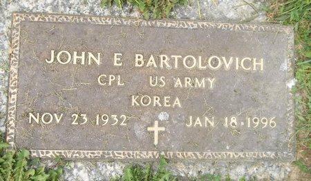 BARTOLOVICH, JOHN E. - Trumbull County, Ohio   JOHN E. BARTOLOVICH - Ohio Gravestone Photos