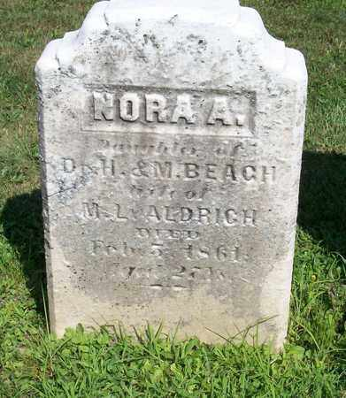 BEACH, NORA A - Trumbull County, Ohio | NORA A BEACH - Ohio Gravestone Photos