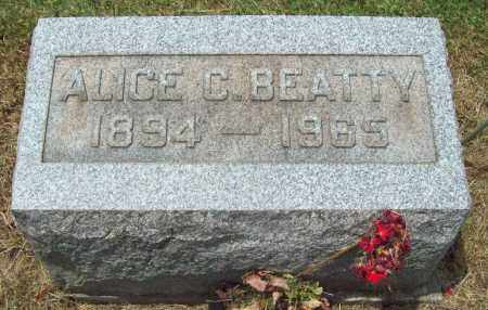BEATTY, ALICE C. - Trumbull County, Ohio | ALICE C. BEATTY - Ohio Gravestone Photos