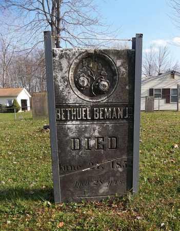 BEMAN, BETHUEL, JR. - Trumbull County, Ohio | BETHUEL, JR. BEMAN - Ohio Gravestone Photos
