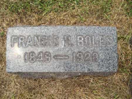 BOLES, FRANCIS H. - Trumbull County, Ohio | FRANCIS H. BOLES - Ohio Gravestone Photos
