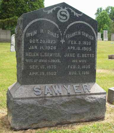 SAWYER, FRANKLIN - Trumbull County, Ohio | FRANKLIN SAWYER - Ohio Gravestone Photos