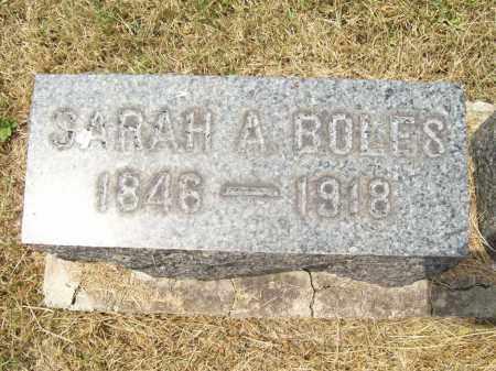 BOLES, SARAH A. - Trumbull County, Ohio | SARAH A. BOLES - Ohio Gravestone Photos