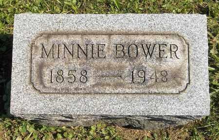 BOWER, MINNIE - Trumbull County, Ohio | MINNIE BOWER - Ohio Gravestone Photos