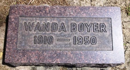 BOYER, WANDA M. - Trumbull County, Ohio | WANDA M. BOYER - Ohio Gravestone Photos