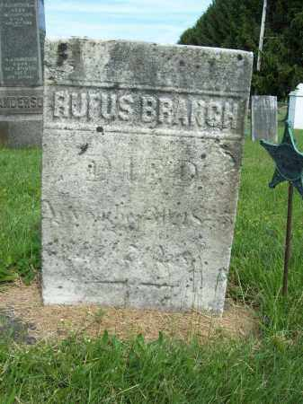 BRANCH, RUFUS - Trumbull County, Ohio | RUFUS BRANCH - Ohio Gravestone Photos