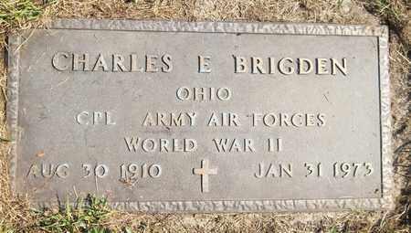 BRIGDEN, CHARLES E. - Trumbull County, Ohio   CHARLES E. BRIGDEN - Ohio Gravestone Photos