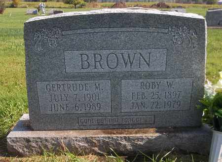 BROWN, GERTRUDE M. - Trumbull County, Ohio | GERTRUDE M. BROWN - Ohio Gravestone Photos