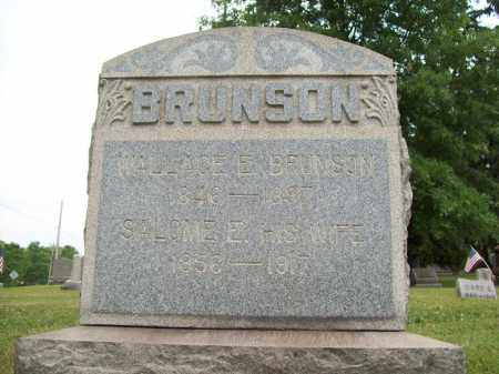 BRUNSON, SALOME ELLEN - Trumbull County, Ohio | SALOME ELLEN BRUNSON - Ohio Gravestone Photos