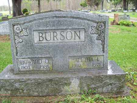 BURSON, ALETHA L. - Trumbull County, Ohio | ALETHA L. BURSON - Ohio Gravestone Photos