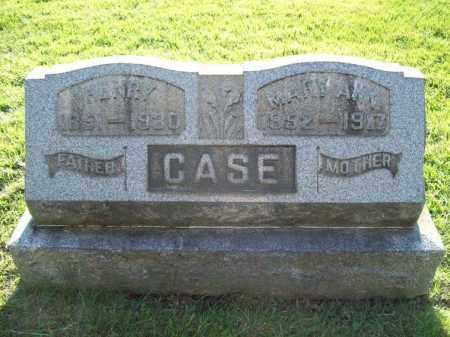 CASE, MARY ANN - Trumbull County, Ohio | MARY ANN CASE - Ohio Gravestone Photos