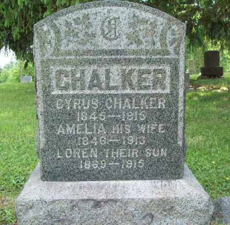 CHALKER, MARY AMELIA - Trumbull County, Ohio | MARY AMELIA CHALKER - Ohio Gravestone Photos