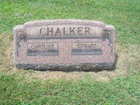 CHALKER, EDWARD - Trumbull County, Ohio | EDWARD CHALKER - Ohio Gravestone Photos