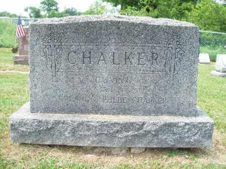 CHALKER, CALVIN N. - Trumbull County, Ohio | CALVIN N. CHALKER - Ohio Gravestone Photos