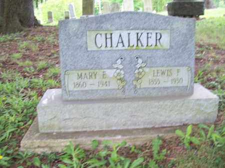 CHALKER, MARY ELIZABETH - Trumbull County, Ohio | MARY ELIZABETH CHALKER - Ohio Gravestone Photos