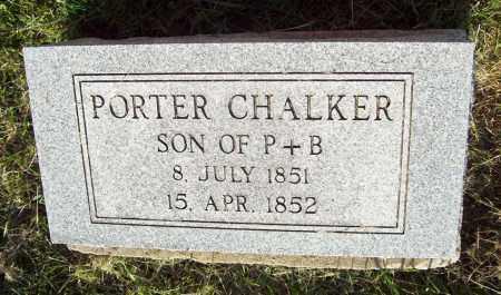 CHALKER, PORTER - Trumbull County, Ohio | PORTER CHALKER - Ohio Gravestone Photos