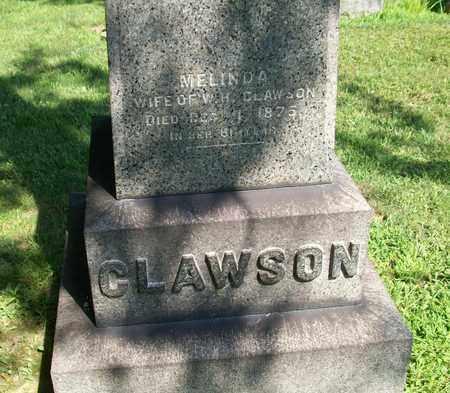 CLAWSON, MELINDA - Trumbull County, Ohio | MELINDA CLAWSON - Ohio Gravestone Photos