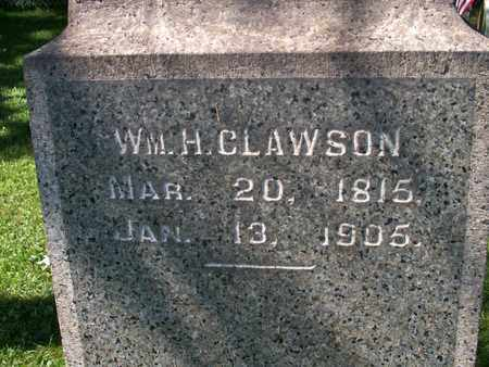 CLAWSON, WILLIAM H. - Trumbull County, Ohio | WILLIAM H. CLAWSON - Ohio Gravestone Photos