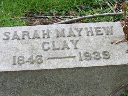 MAYHEW CLAY, SARAH - Trumbull County, Ohio | SARAH MAYHEW CLAY - Ohio Gravestone Photos